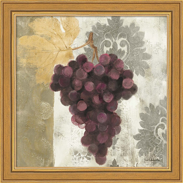 Metaverse Art Acanthus And Paisley With Grapes I Framed Print Wall Art