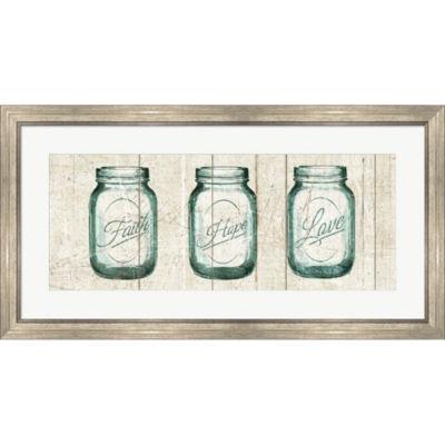 Metaverse Art Flea Market Mason Jars Panel I Framed Print Wall Art