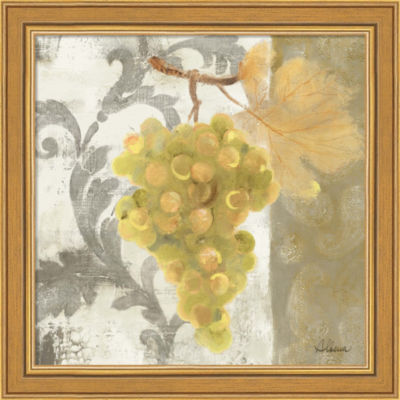 Acanthus And Paisley With Grapes II Framed Print Wall Art