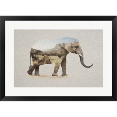 Metaverse Art African Elephant Erongo Namibia Framed Print Wall Art