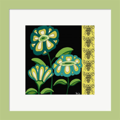 Floral & Bees Framed Print Wall Art