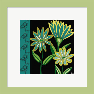 Floral & Birds Framed Print Wall Art