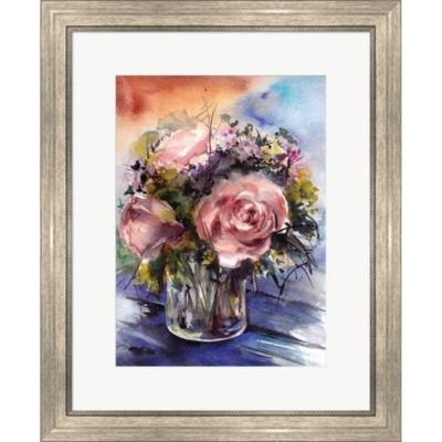 Metaverse Art Floral Arrangement Framed Print WallArt