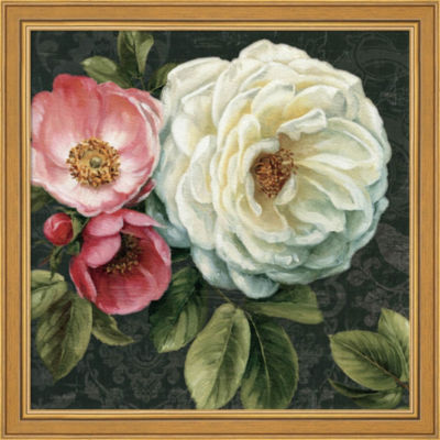 Metaverse Art Floral Damask II Framed Print Wall Art