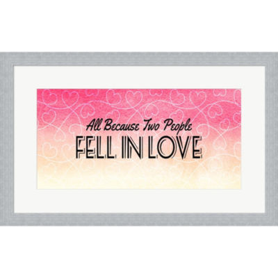 All Because Two People Framed Print Wall Art