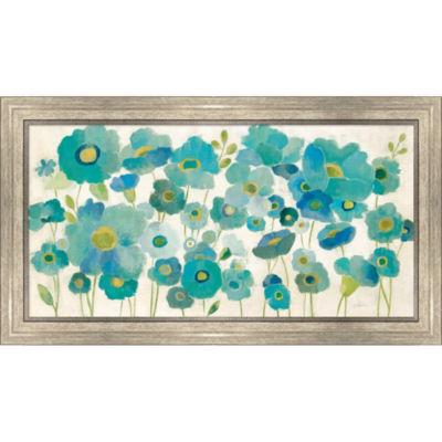 Metaverse Art Floral Lace Framed Print Wall Art