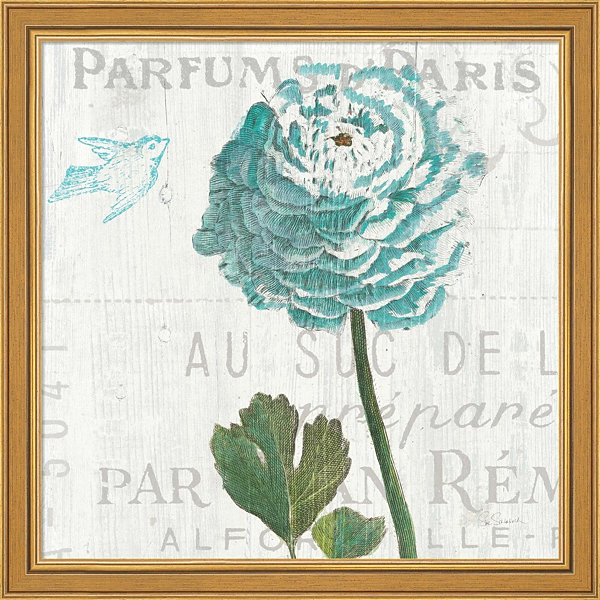 Metaverse Art Floral Messages On Wood II Framed Print Wall Art