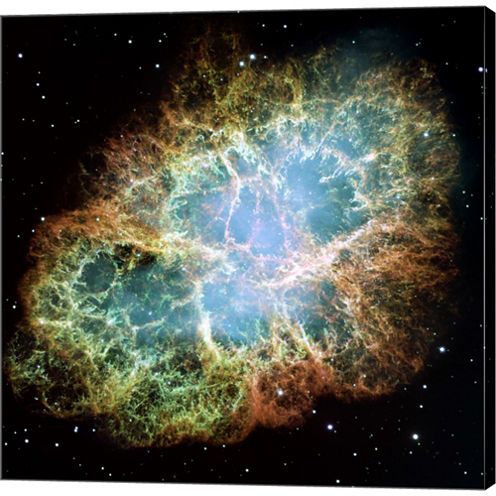 A Giant Hubble Mosaic Of The Crab Nebula Gallery Wrapped Canvas Wall Art On Deep Stretch Bars