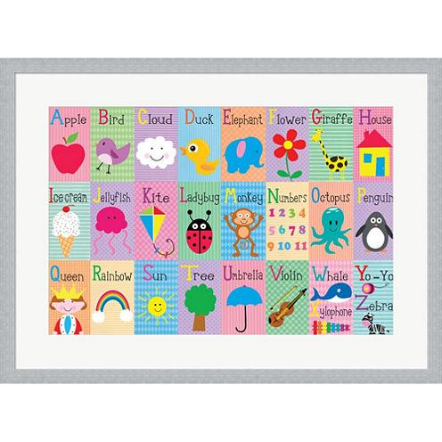 Alphabet Squares Framed Print Wall Art
