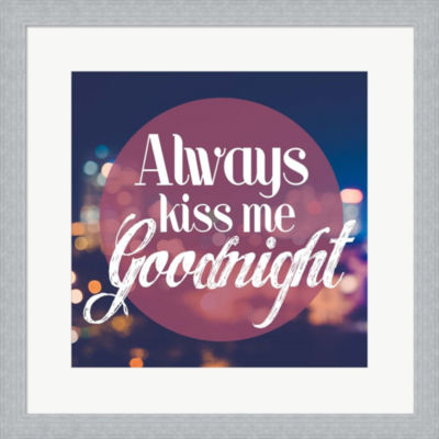 Metaverse Art Always Kiss Me Goodnight Blurred Lights Framed Print Wall Art