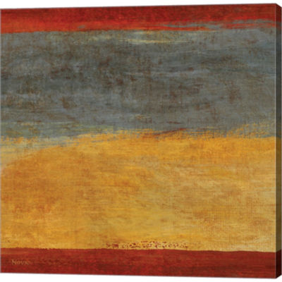 Metaverse Art Abstract Stripe Square I by Studio Nova Gallery Wrapped Canvas Wall Art