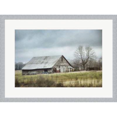 Metaverse Art An Old Gray Barn Framed Print Wall Art
