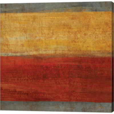 Metaverse Art Abstract Stripe Square II Gallery Wrapped Canvas Wall Art