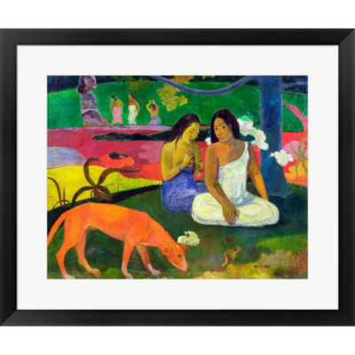 Arearea (The Red Dog) 1892 Framed Print Wall Art