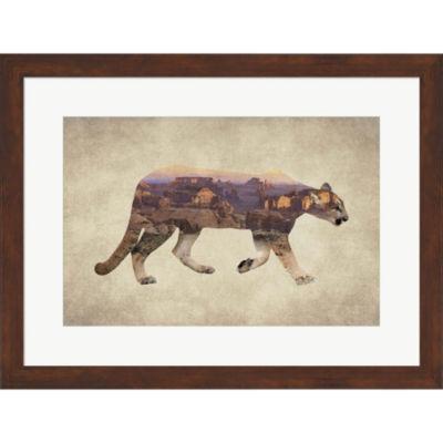 Arizona Mountain Lion Framed Print Wall Art