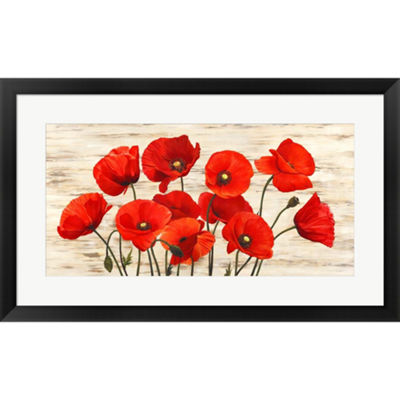 Metaverse Art French Poppies Framed Print Wall Art