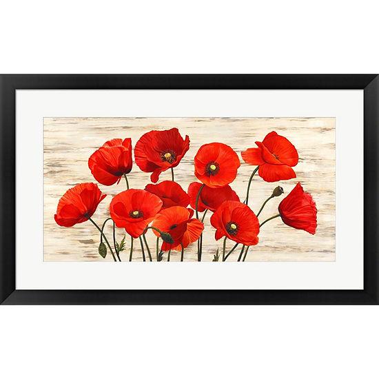 Metaverse Art French Poppies Framed Print Wall Art