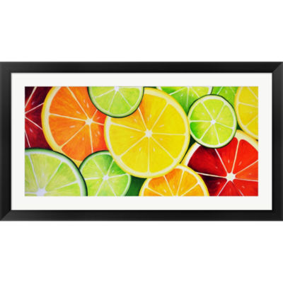Fruit Slices Framed Print Wall Art