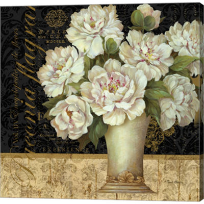 Metaverse Art Antique Floral Still Life II GalleryWrapped Canvas Wall Art