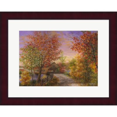 Metaverse Art Autumn's Color Of Fashion Framed Print Wall Art