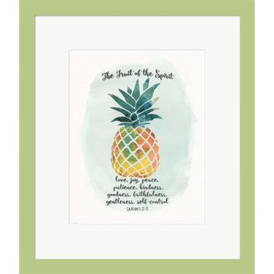 Metaverse Art Fruit Spirit Framed Print Wall Art