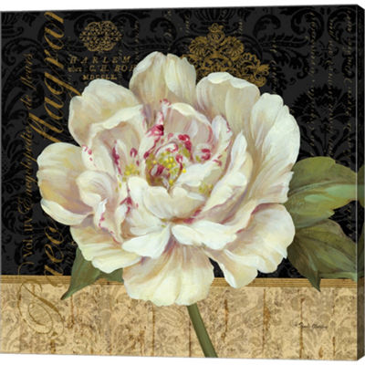 Metaverse Art Antique Still Life Peony Gallery Wrapped Canvas Wall Art