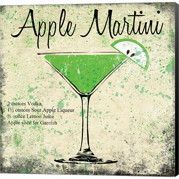 Metaverse Art Apple Martini Gallery Wrapped CanvasWall Art