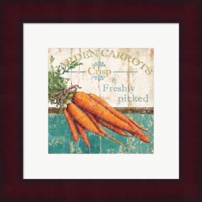 Metaverse Art Garden Carrots Framed Print Wall Art