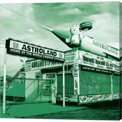 Metaverse Art Astroland Gallery Wrapped Canvas Wall Art