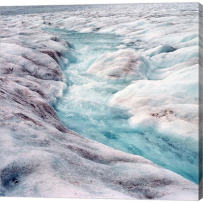 Metaverse Art Athabasca Glacier Columbia IcefieldsAlberta Gallery Wrapped Canvas Wall Art
