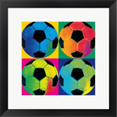 Metaverse Art Ball Four-Soccer Framed Print Wall Art