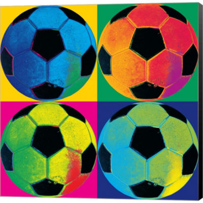 Ball Four-Soccer Gallery Wrapped Canvas Wall Art On Deep Stretch Bars
