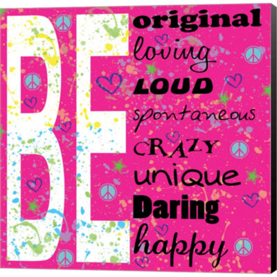 Be Gallery Wrapped Canvas Wall Art On Deep StretchBars