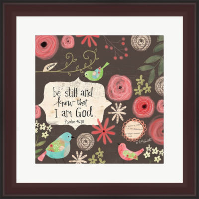 Metaverse Art Be Still And Know Framed Print WallArt
