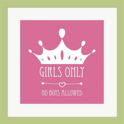 Metaverse Art Girls Only Crown Framed Print Wall Art