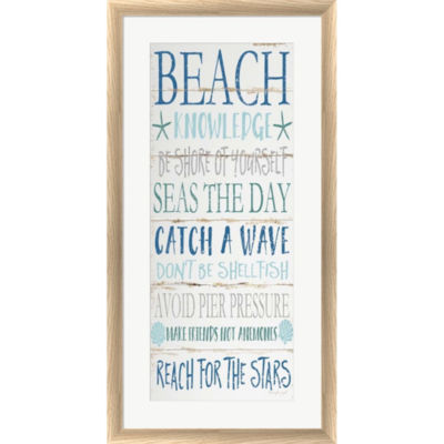 Metaverse Art Beach Knowledge Framed Print Wall Art