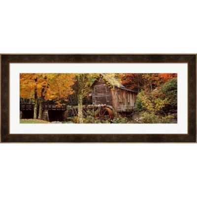 Metaverse Art Glade Creek Grist Mill West VirginiaFramed Print Wall Art