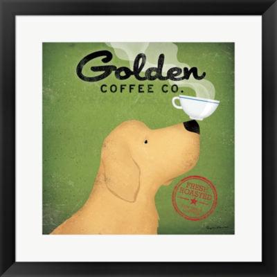 Metaverse Art Golden Coffee Co. Framed Print WallArt