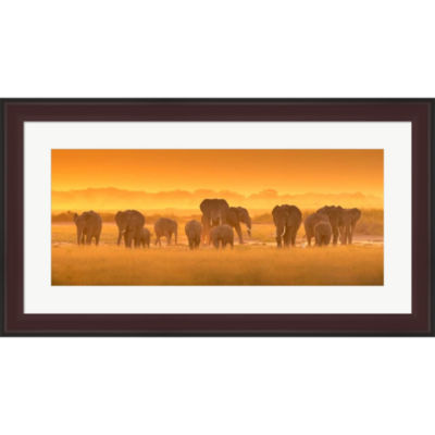 Metaverse Art Golden Light Framed Print Wall Art