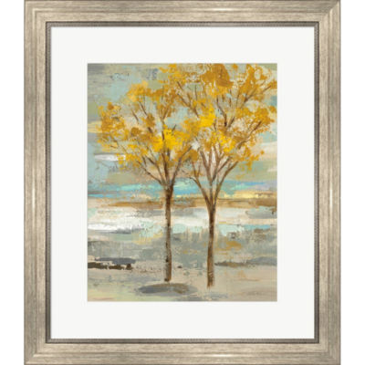Metaverse Art Golden Tree And Fog II Framed PrintWall Art