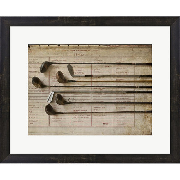 Metaverse Art Golf 2 Framed Print Wall Art