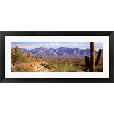 Metaverse Art Golf Course Tucson AZ Framed Print Wall Art