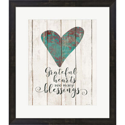 Metaverse Art Grateful Hearts Framed Print Wall Art