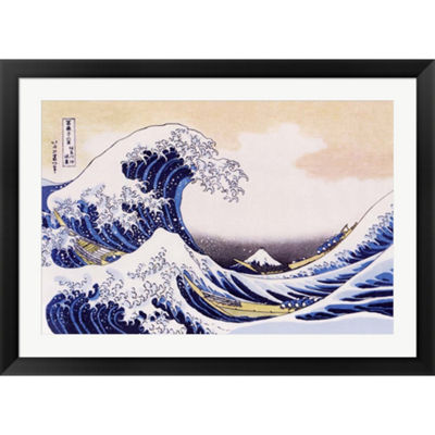 Metaverse Art Great Wave Of Kanagawa Framed PrintWall Art