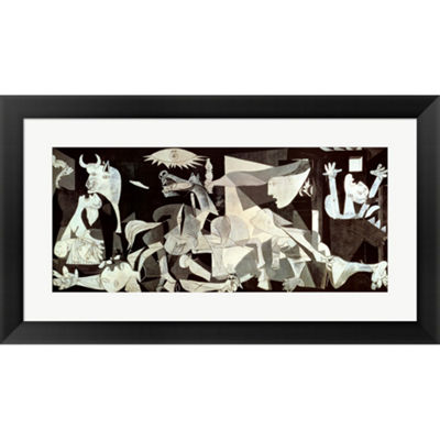 Metaverse Art Guernica Framed Print Wall Art
