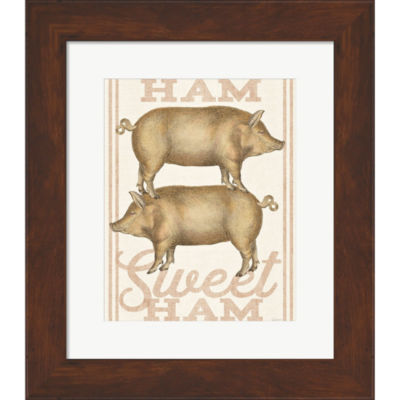 Metaverse Art Ham Sweet Ham  Framed Print Wall Art