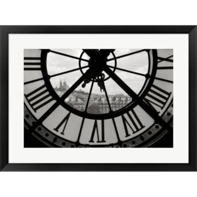 Big Clock Horizontal Framed Print Wall Art