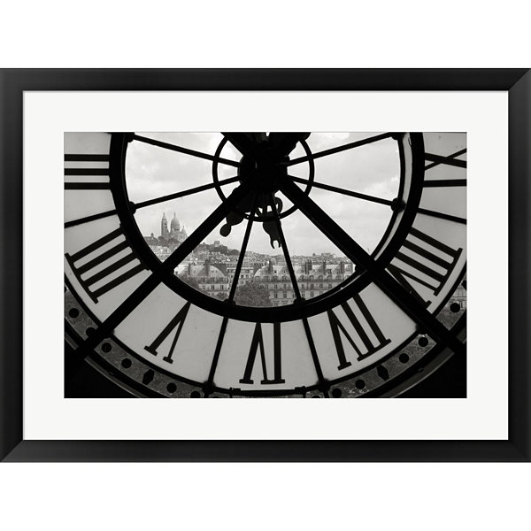 Metaverse Art Big Clock Horizontal Framed Print Wall Art