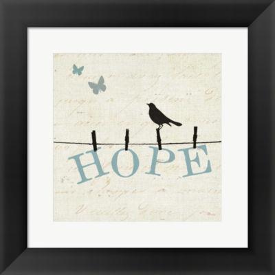 Bird Talk I Framed Print Wall Art