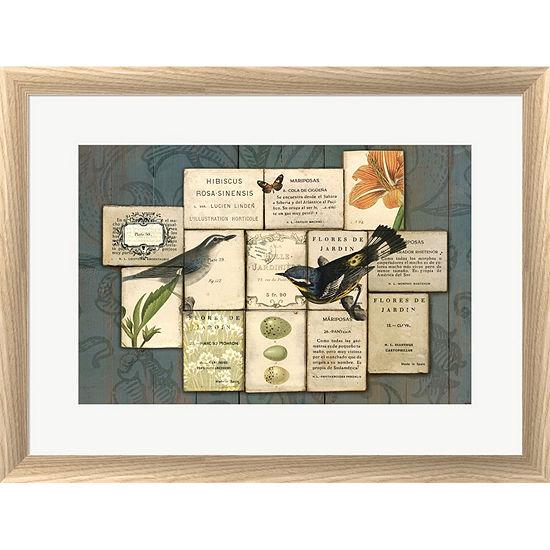 Metaverse Art Birds Of The Garden Framed Print Wall Art